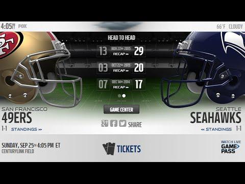 LIVE   Seattle Seahawks vs San Francisco 49ers   NFL 2016