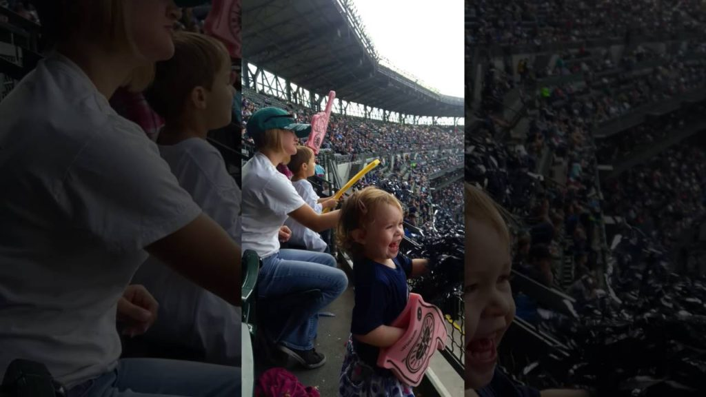 Shaking it at the Mariners game