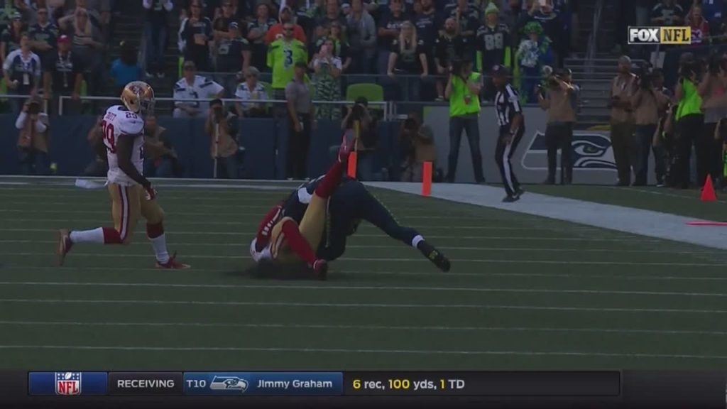 Man, hope Russell Wilson will be okay. Right… by ktvbsportsguy NFL Football: 49ers at Seahawks FOX