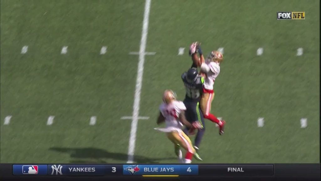Huge play!!!! #JumpBall #Beast #Stolen #49ersVsSea… by austink NFL Football: 49ers at Seahawks FOX