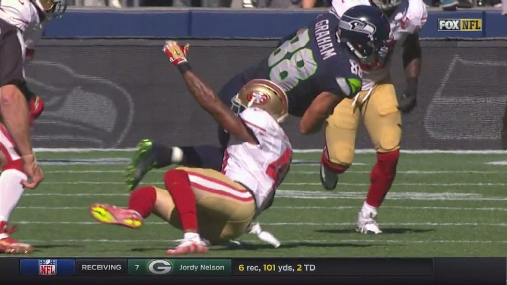 Close play #Fumble #Challenge #49ers #NFL by austink NFL Football: 49ers at Seahawks FOX