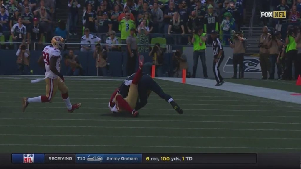 #RusselWilson leg bends sideways!!! #ouch #injury … by austink NFL Football: 49ers at Seahawks FOX