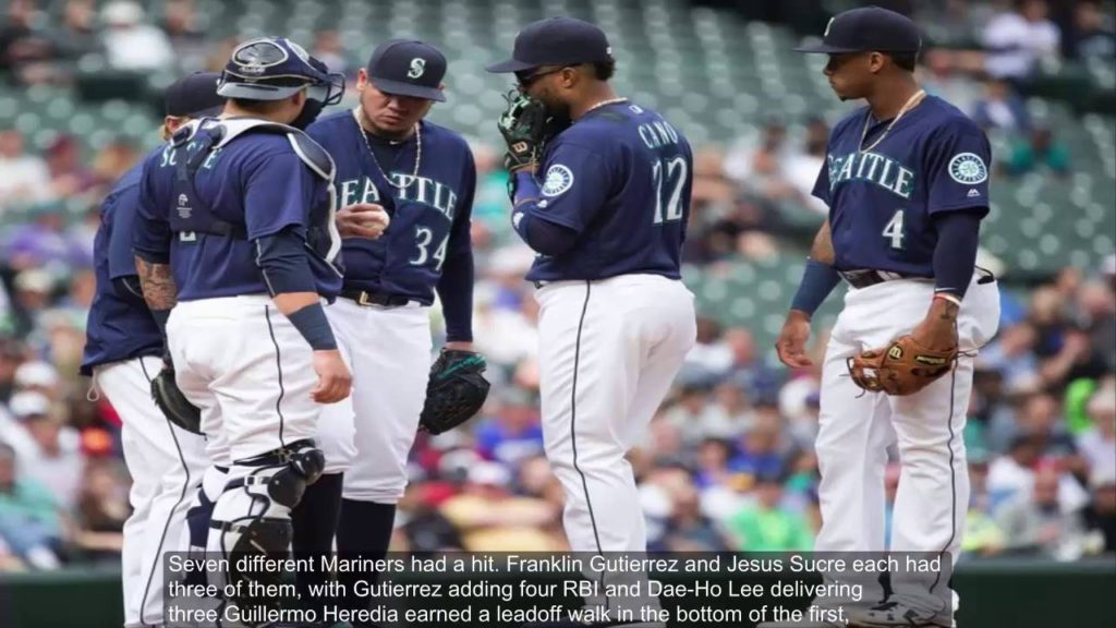 Mariners jump on Cole Hamels early to post a 14-6 victory over the Rangers