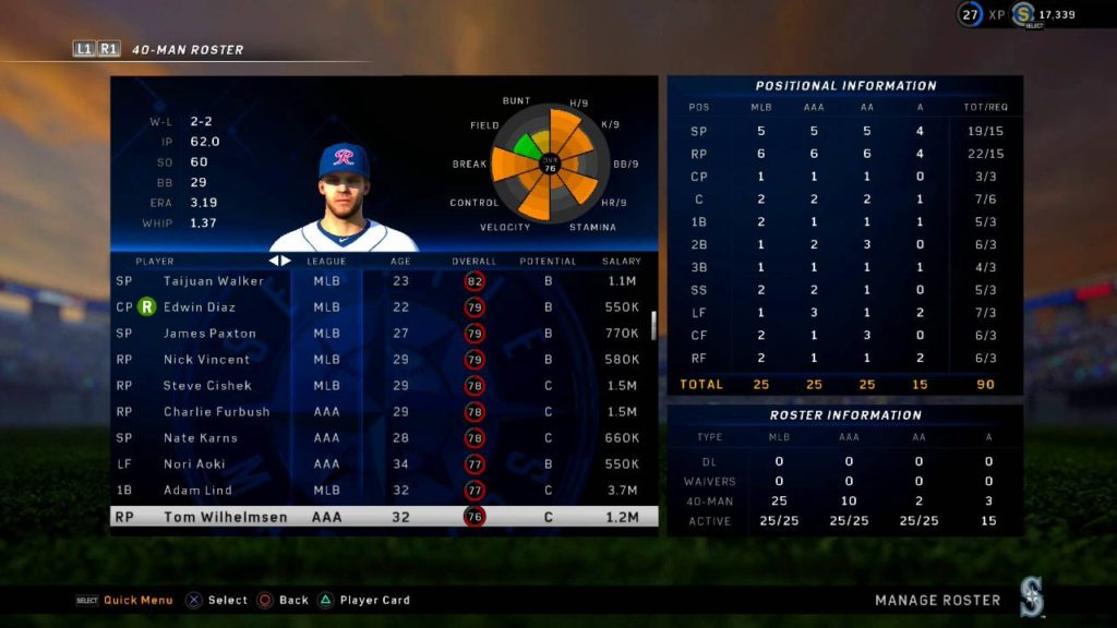 MLB The Show 16 Seattle Mariners 2016 Could This Roster Win Them The World Series