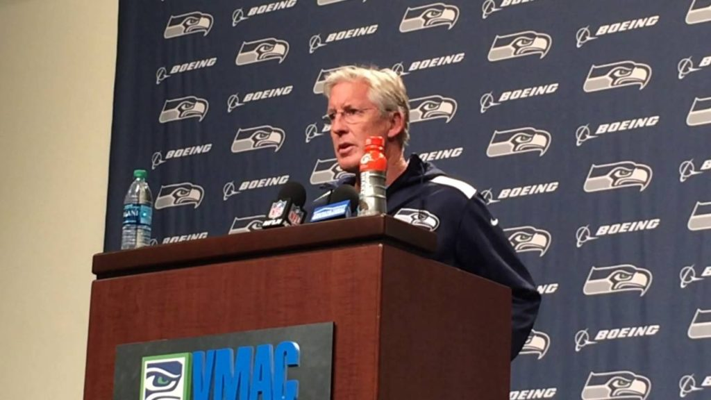 Pete Carroll positive about Seahawks QB Russell Wilson's sprained knee