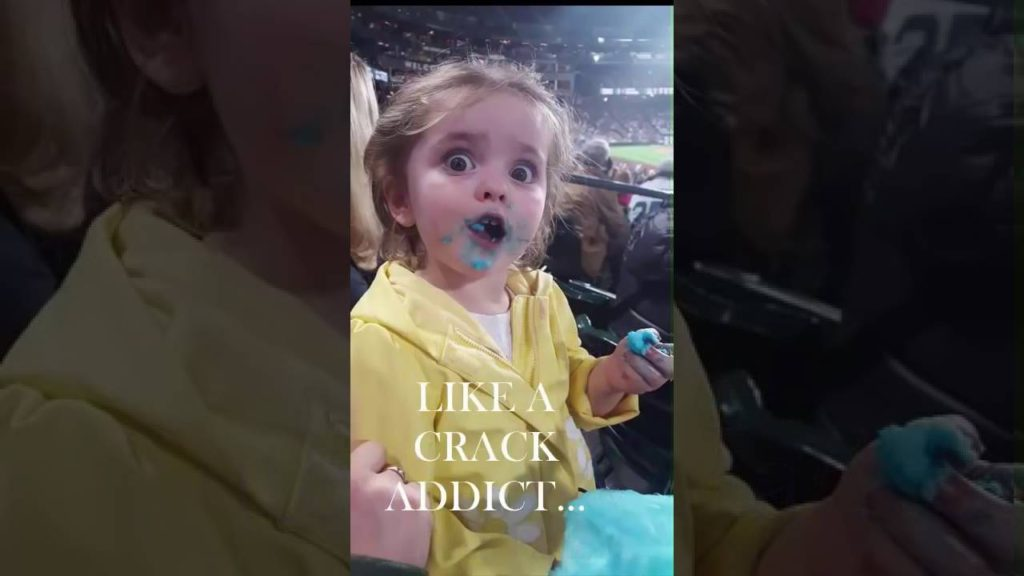 Candy Girl goes viral during Mariners game Full MOV