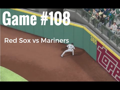 MLB 16 Boston Red Sox at Seattle Mariners Game #108