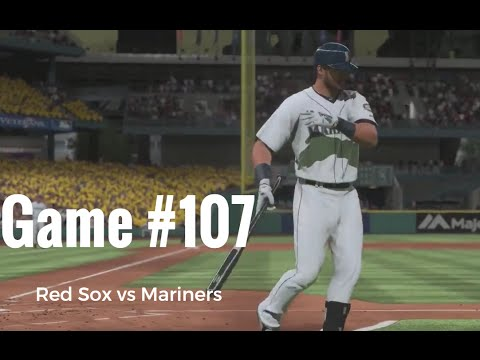 MLB 16 Boston Red Sox at Seattle Mariners Game #107