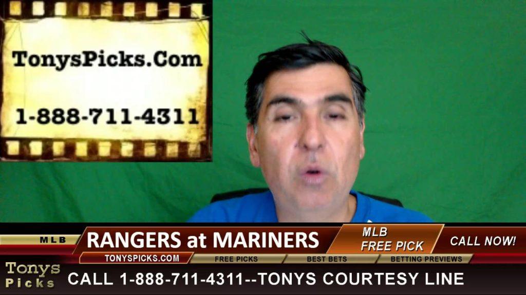 Texas Rangers vs. Seattle Mariners Pick Prediction MLB Baseball Odds Series Preview