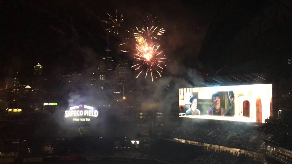 Mariners Safeco Field Star Wars Firework show