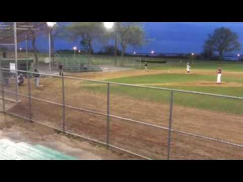 John Feltman 1st inning of Start vs Island Park Mariners (Long Island, New York)