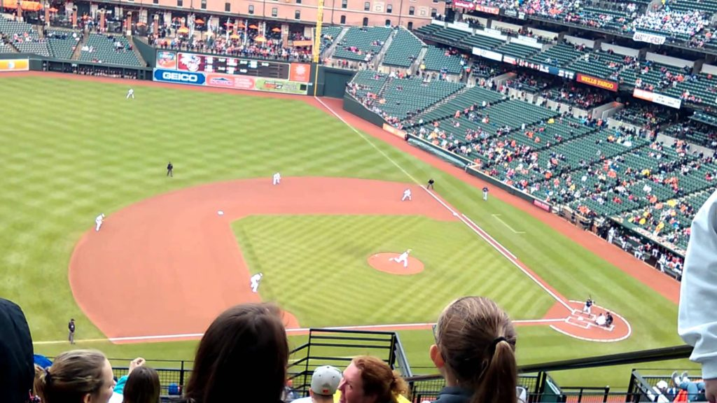 Baltimore base ball orioles vs the mariners game