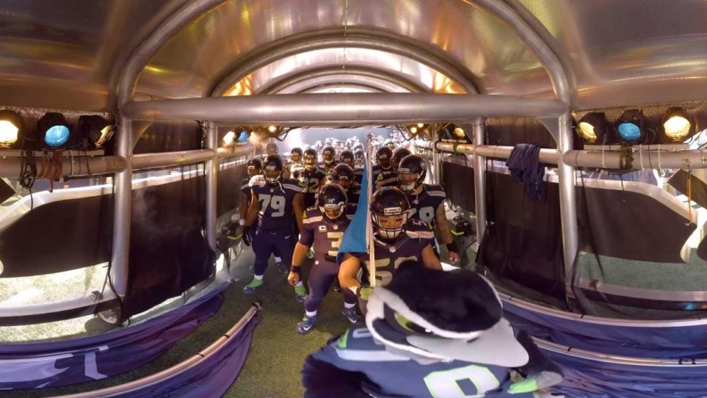 A 360 Look at Seahawks Introductions from Inside the Tunnel