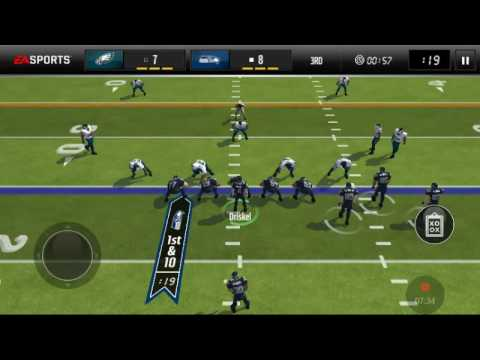 Madden Mobile gameplay Seahawks