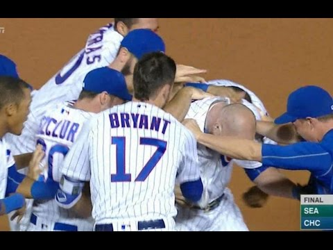 Jon Lester Walk Off Bunt Cubs vs Mariners 7-6 2016 Cubs Defeat Beat Mariners MY THOUGHTS REVIEW