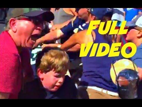 Seahawks fan gets into a fight with LA rams fans 9/18/16  seattle seahawks vs LA rams 9/18/16