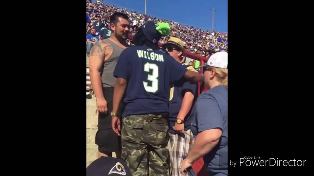 fans fighting at the La Rams vs Seattle Seahawks game (PLUS) Odell Beckham Jr. acting a fool