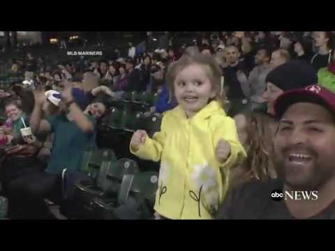 Little Girl Loses Her Mind Over Her Cotton Candy at Seattle Mariners Game