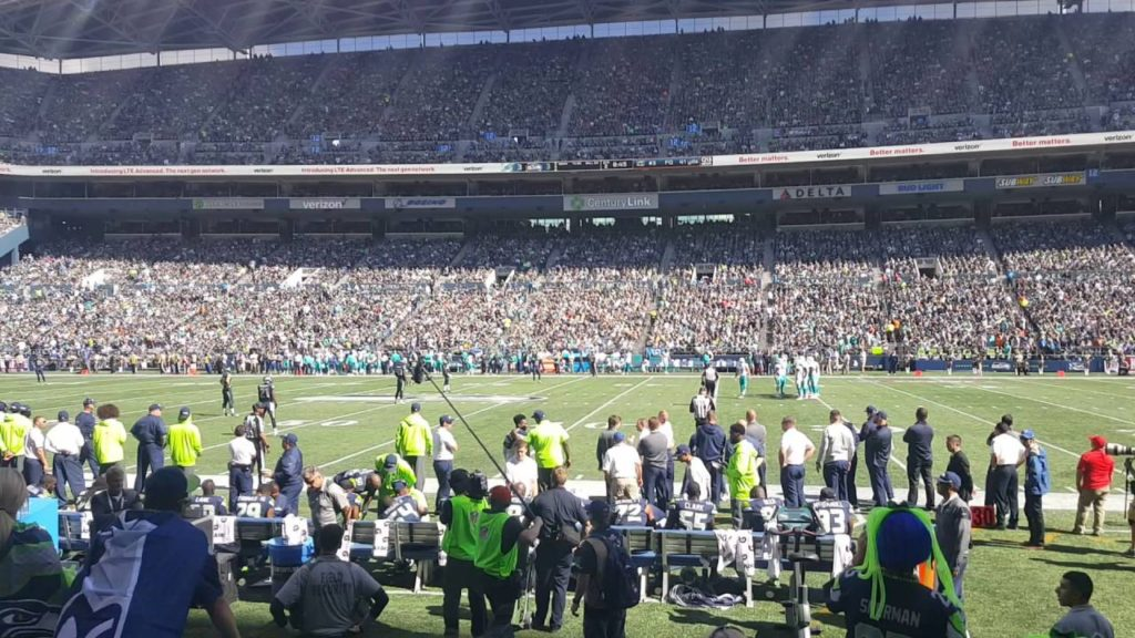 Kyla's first seahawks game(1)