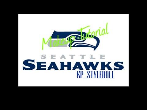Seattle Seahawks Makeup Tutorial 2016 Football Friday   kp_styledoll