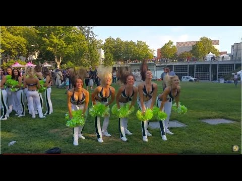 Seattle SeaHawks SeaGals Cheerleaders Hair-Raising Group Dance Moves