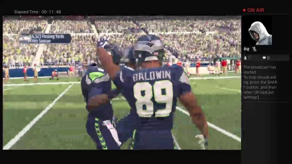 titoyoung16's Live PS4 Broadcast the 49ers 21 seahawks 47