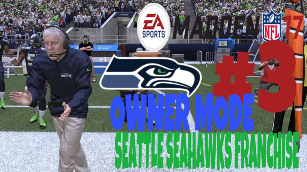 Madden 17 Seattle Seahawks Franchise Owner Mode Ep.3 Pete Carroll and His Amazing Plays!!!