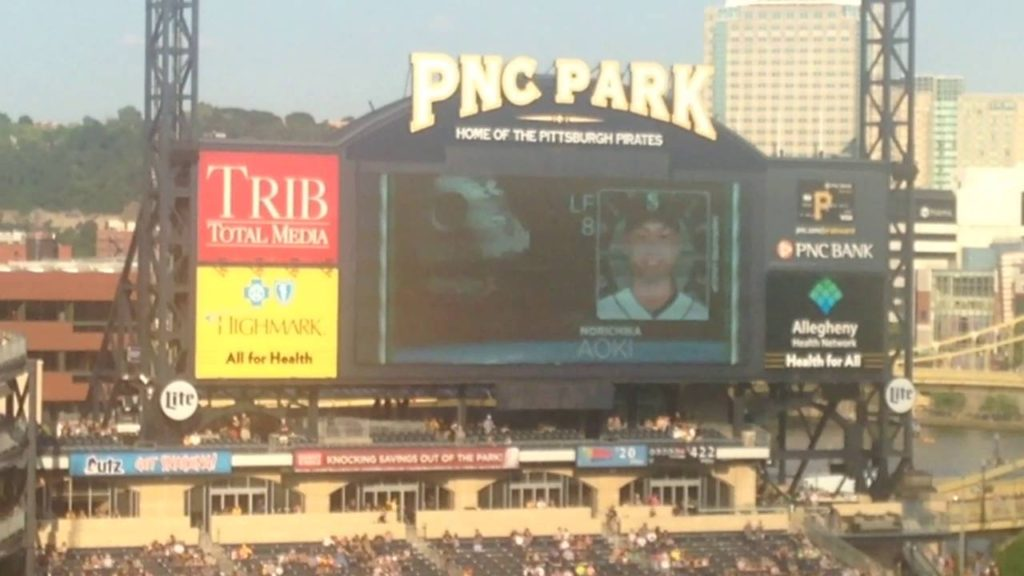 2016 PNC Park Pittsburgh Pirates VS Seattle Mariners(Includes Starting Lineups