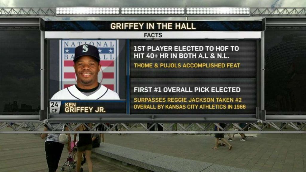 SEA@TOR: Mariners broadcast discusses Griffey to HOF
