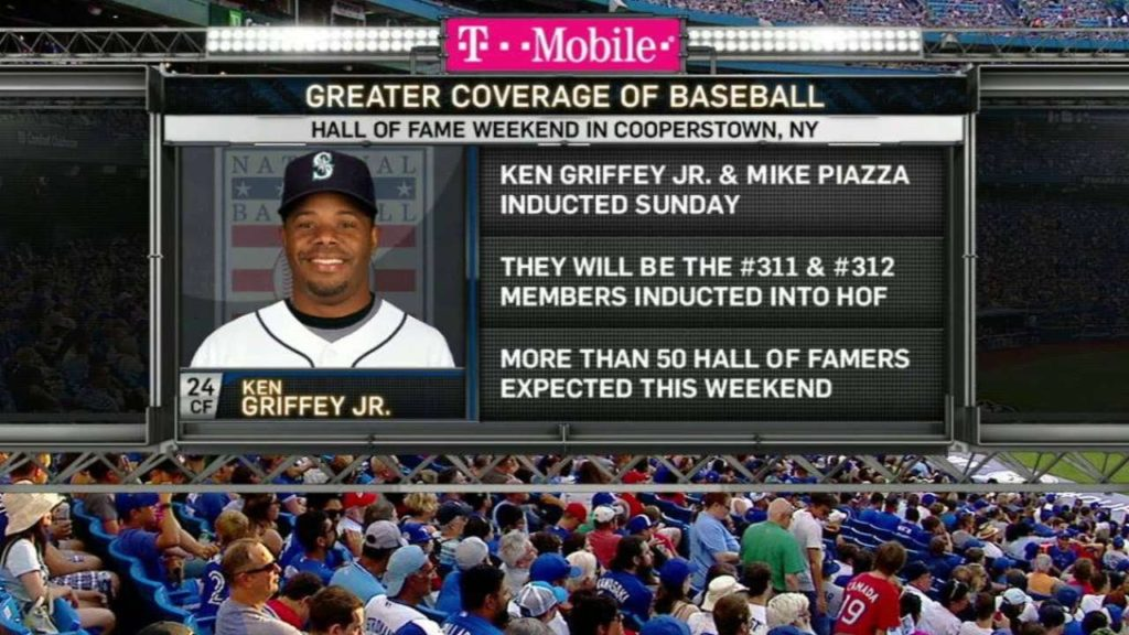 SEA@TOR: Mariners' broadcast discusses Griffey Jr.