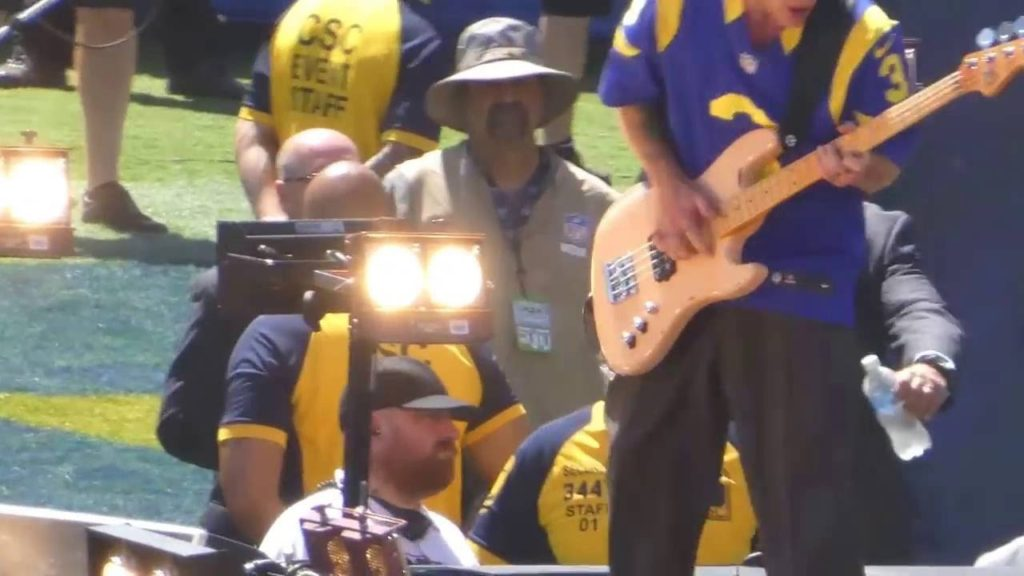 The Red Hot Chili Peppers @ The Los Angeles Rams Game.