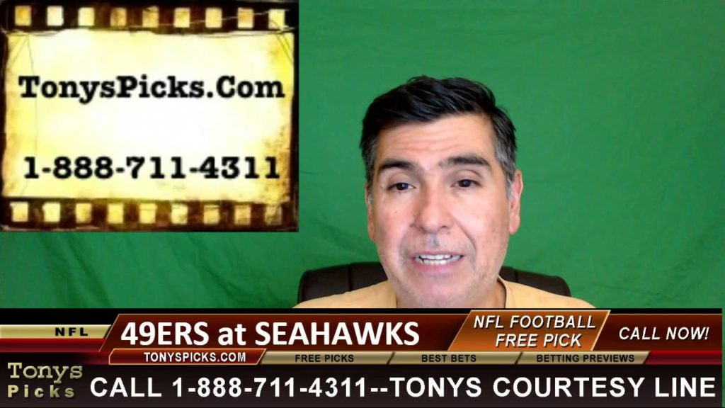 San Francisco 49ers vs. Seattle Seahawks Pick Prediction NFL Pro Football Odds Preview 9-25-2016