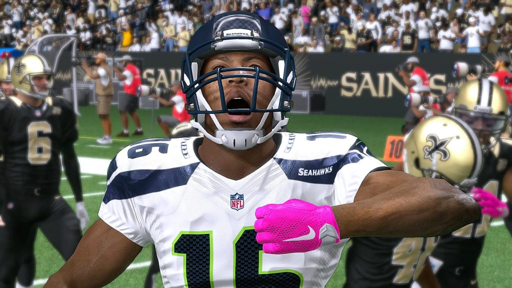 Madden 17 Seattle Seahawks vs New Orleans Saints Connected Franchise Week 8 NFL Game Play Xbox One
