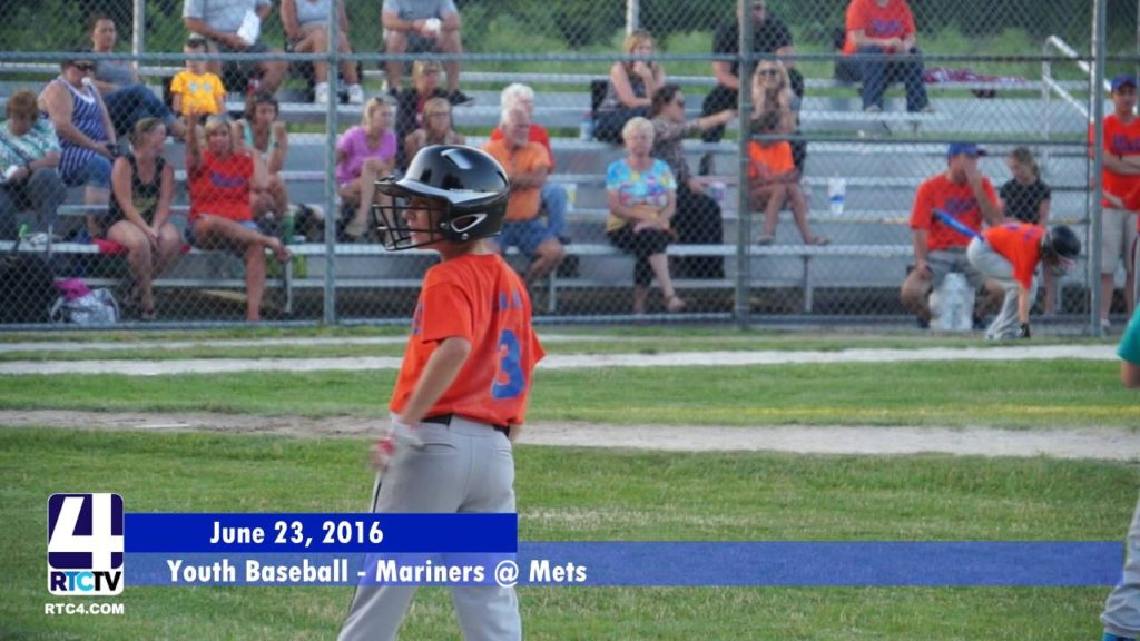 Youth Baseball – Rochester Mariners vs Rochester Mets 6/23/16