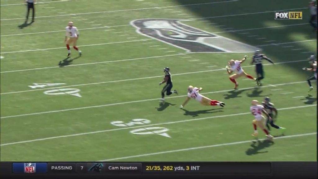 #TylerLockett with a 62 yard punt return!!!  What … by austink NFL Football: 49ers at Seahawks FOX