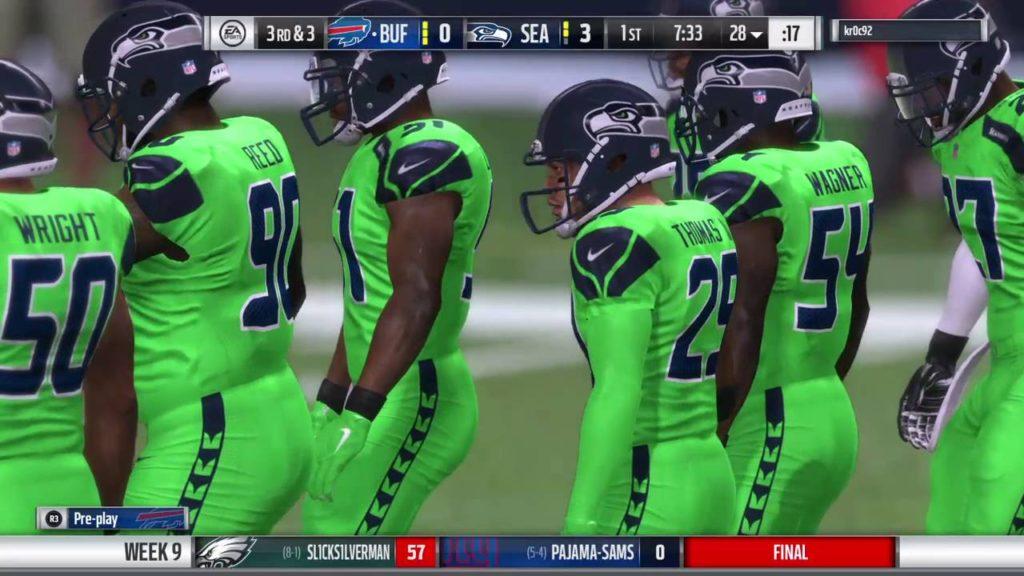 Madden 17: MNF Week 9 (@Seahawks)