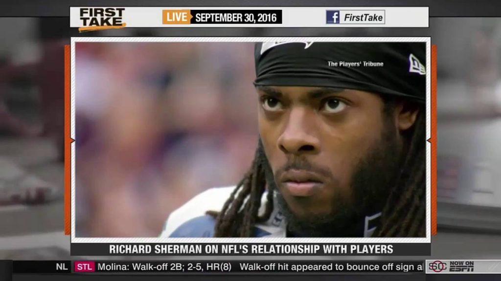 ESPN First Take – Seattle Seahawks Richard Sherman Rips NFL