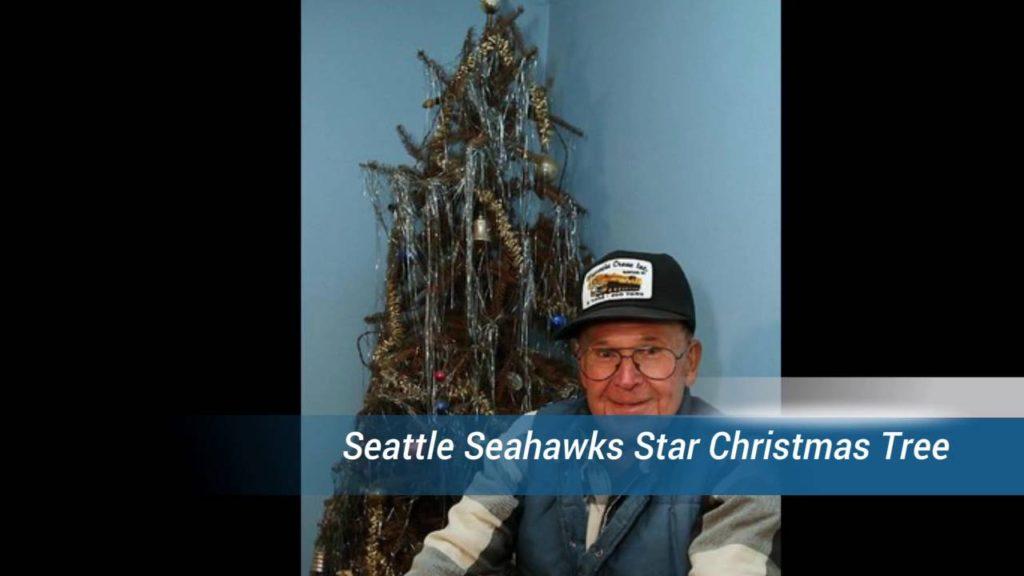 Seattle Seahawks Star Christmas Tree