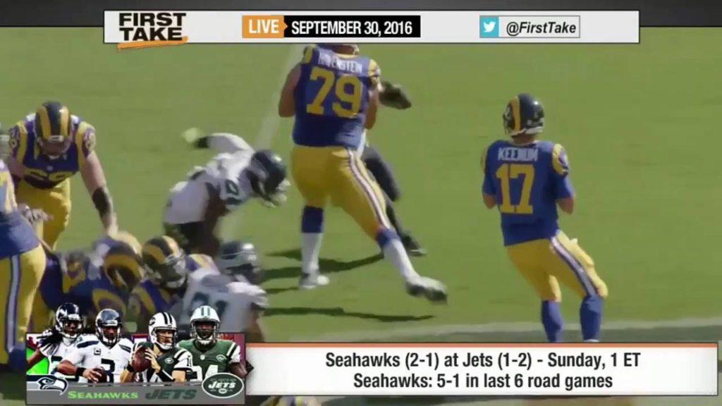 ESPN First Take/Seattle Seahawks vs New York Jets Who Wins Stephen A  Smith On Josh Gordon's Fu 99/