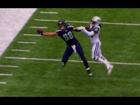 Seahawks' WR TE Jimmy Graham Contorts for Impressive One Handed Grab vs Jets