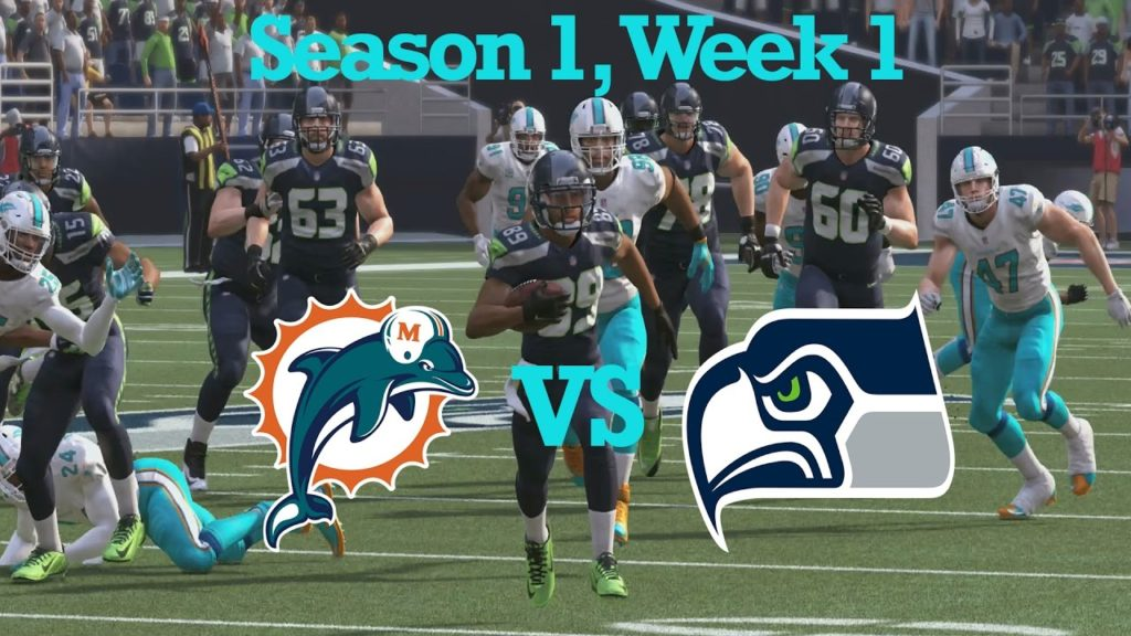 Madden 17 Miami Dolphins Connected Franchise Season 1: Week 1 Vs. Seahawks [Ep.3]