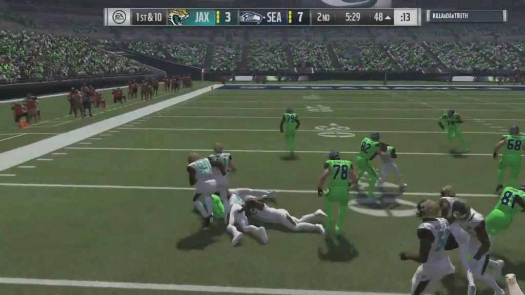 Madden 17 :: This is when you QUIT the game! Seahawks Vs. Jaguars ::  Madden NFL 17 Online Gameplay