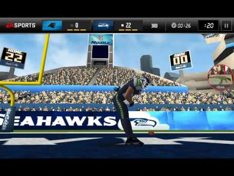 Seahawks vs Panthers (madden mobile)