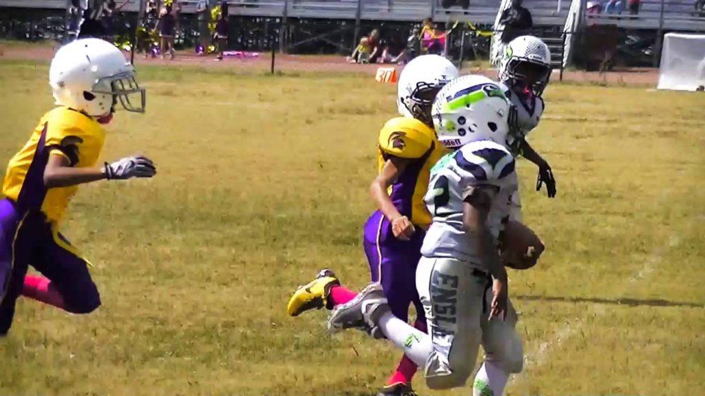 Ensley Seahawks vs pleasent grove vikings youth Football highlights 90lbs