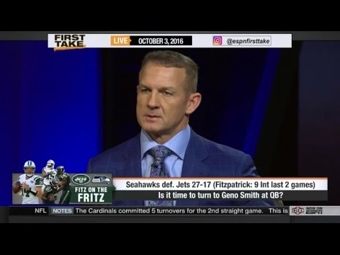 ESPN  First Take Today 10/3/2016 Seahawks vs Jets (27-17) (NFL Week 4)