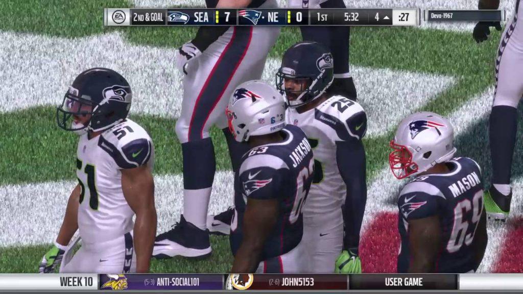 Madden 17 GDK lg week 10 vs Seahawks