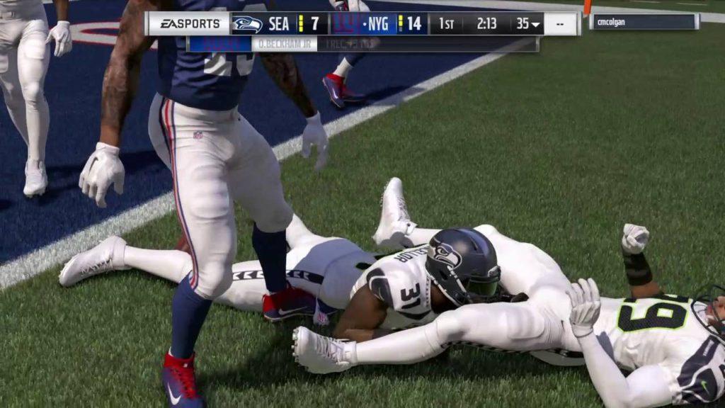 * Madden 17 NFL Seattle Seahawks vs New York Giants
