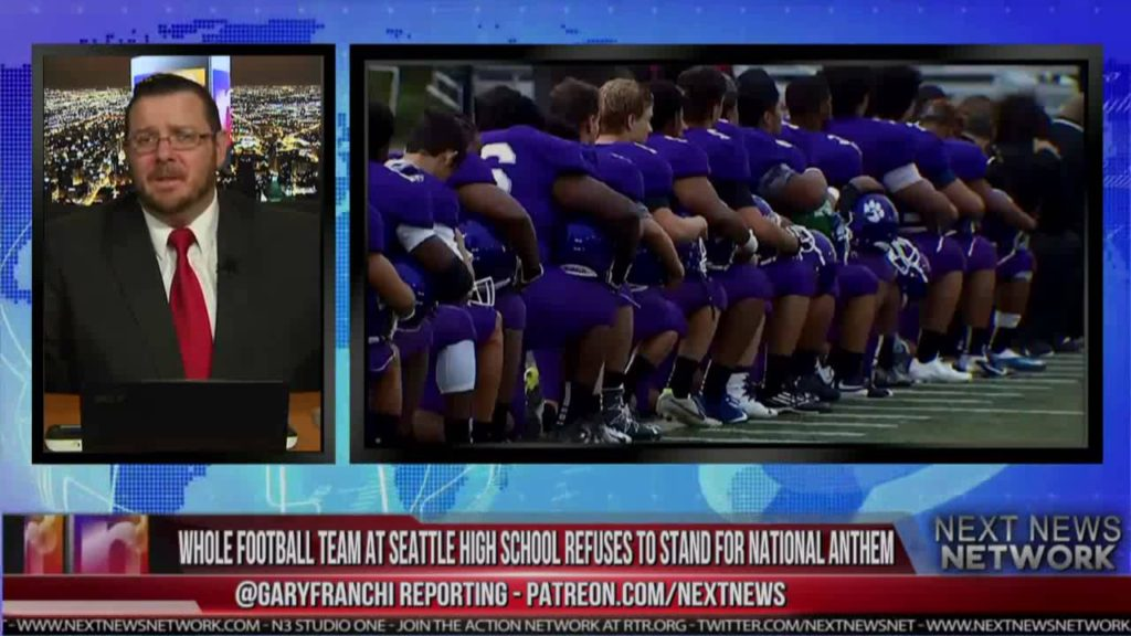 WHOLE FOOTBALL TEAM AT SEATTLE HIGH SCHOOL REFUSES TO STAND FOR NATIONAL ANTHEM