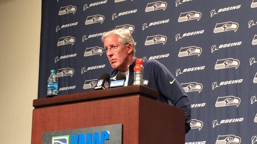 Pete Carroll on loss at LA, NFL sanctioning Seahawks over OTA hitting