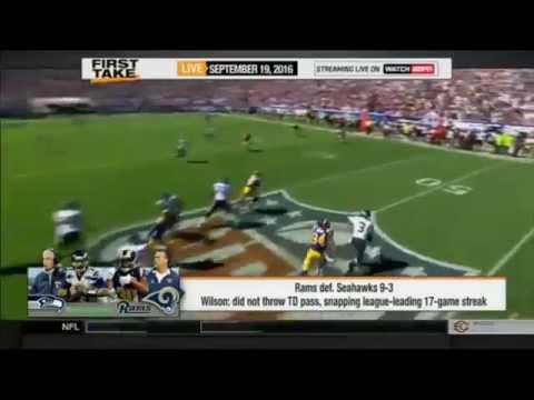 ESPN First Take – NFL Week 2: Rams defeat Seahawks 9-3: Russell Wilson?